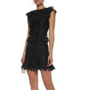Joie Acostas Ruffle & Lace Dress